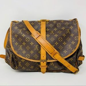 Authentic Louis Vuitton Saumur 35